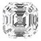 Asscher shaped diamond