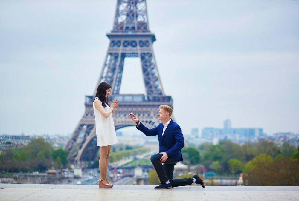 Surprise proposal in public