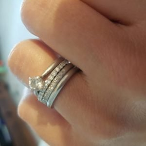 How to Wear Wedding, Engagement and Eternity Rings